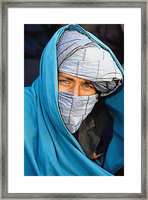Portrait Of Man Wearing Turban Framed Print by Doug McKinlay