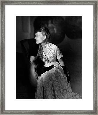 Portrait Of Margaret Thomas Biddle Framed Print by Horst P. Horst