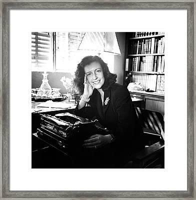 Portrait Of Margarita Villasenor Framed Print