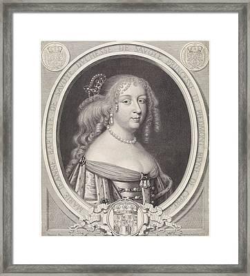 Portrait Of Maria Johanna Baptiste, Duchess Of Savoy Framed Print