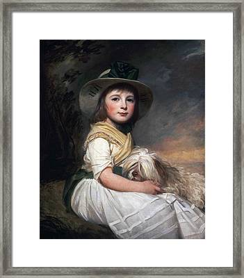 Portrait Of Marianne Holbech Framed Print by George Romney