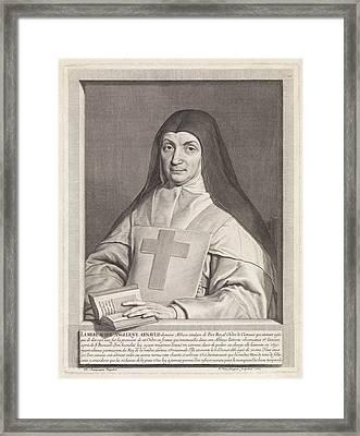 Portrait Of Marie Angelique Arnauld, Pieter Van Schuppen Framed Print by Pieter Van Schuppen