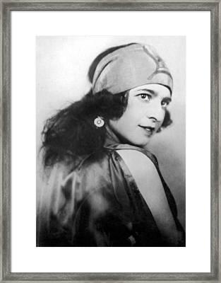 Portrait Of Marie Bekefi Framed Print by Underwood Archives