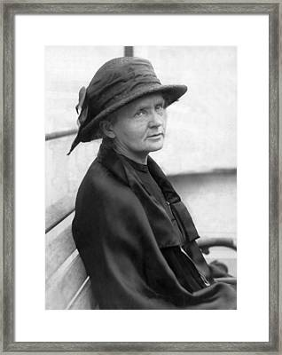 Portrait Of Marie Curie Framed Print