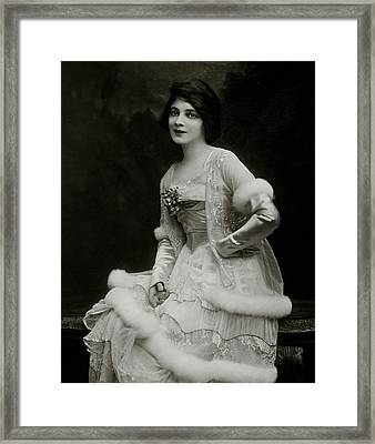 Portrait Of Marie Doro Framed Print by Ira L. Hill
