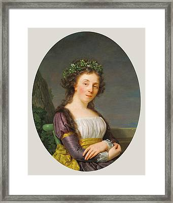 Portrait Of Marie-louise Joubert, Neé Poulletier De Framed Print by Litz Collection