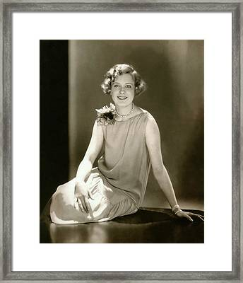 Portrait Of Marilyn Miller Smiling Framed Print