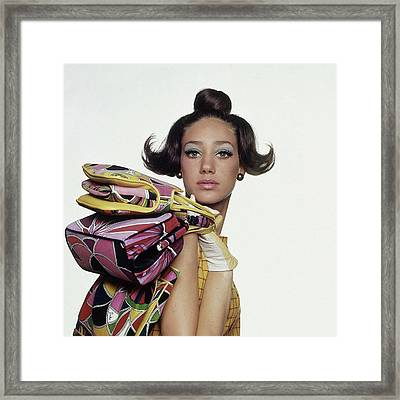 Portrait Of Marisa Berenson Framed Print by Bert Stern