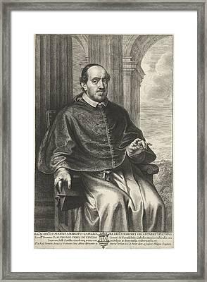 Portrait Of Marius Ambrosius Capello, Philip Fruytiers Framed Print by Philip Fruytiers