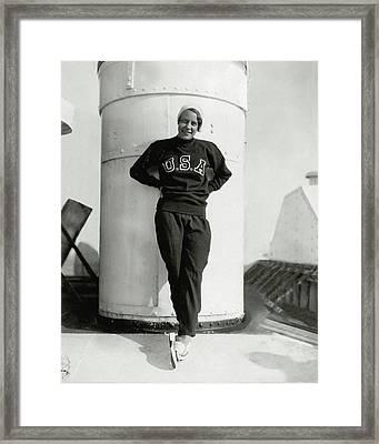Portrait Of Martha Norelius Framed Print by Nicholas Muray
