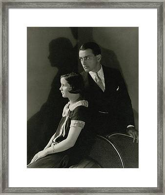 Portrait Of Mary Hay And Richard Barthelmess Framed Print