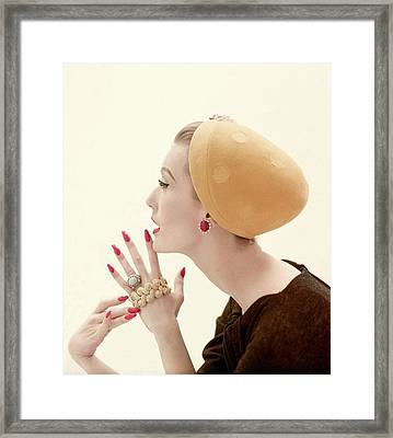 Portrait Of Mary Jane Russell Framed Print by Richard Rutledge