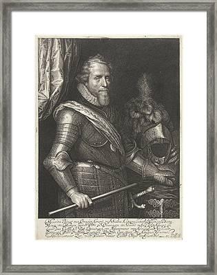 Portrait Of Maurits, Prince Of Orange Framed Print by Willem Jacobsz. Delff And Philips Jacobsz Van Steenwegen