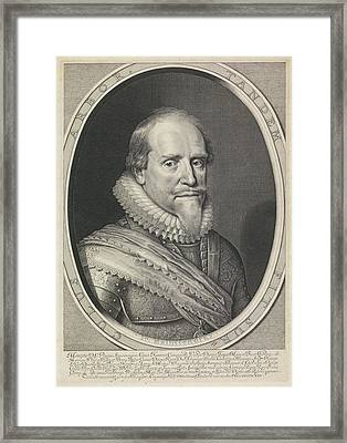 Portrait Of Maurits, Prince Of Orange Framed Print by Willem Jacobsz. Delff