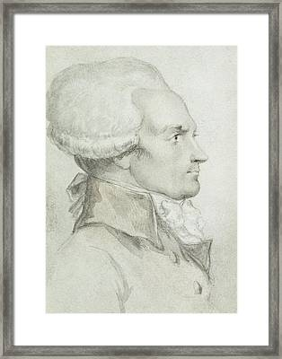 Portrait Of Maximilien De Robespierre Framed Print by Jean Michel the Younger Moreau