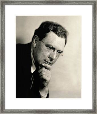 Portrait Of Maxwell Anderson Framed Print by Florence Vandamm