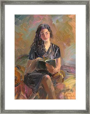 Portrait Of Mery Framed Print by Meruzhan Khachatryan