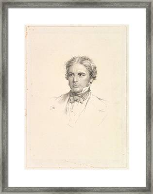 Portrait Of Michael Faraday Framed Print by After George Richmond