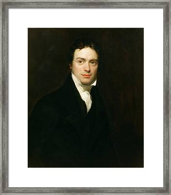 Portrait Of Michael Faraday Framed Print by Henry William Pickersgill
