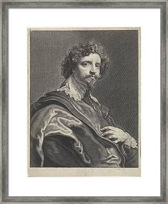 Portrait Of Michael Le Blon, Theodor Matham Framed Print by Theodor Matham And Anthony Van Dyck