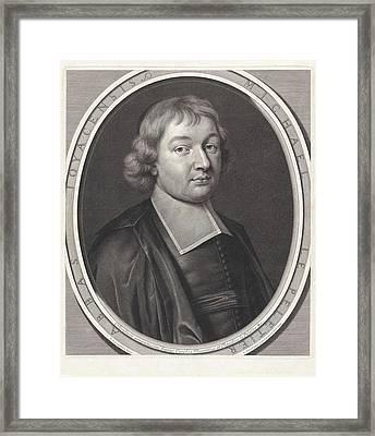 Portrait Of Michel Le Peletier, Pieter Van Schuppen Framed Print
