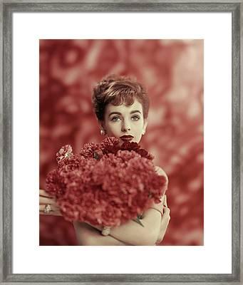 Portrait Of Millie Perkins Framed Print