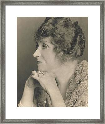 Portrait Of Minnie Maddern Fiske Framed Print