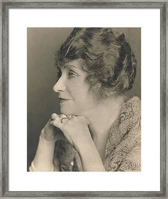Portrait Of Minnie Maddern Fiske Framed Print