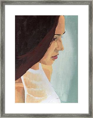 Framed Print featuring the painting Portrait Of Miranda by Stephen Panoushek