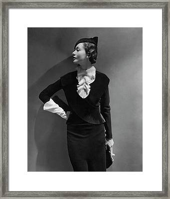 Portrait Of Mlle. Koopman Framed Print by George Hoyningen-Huene