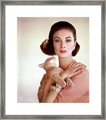 Portrait Of Model Wilhelmina Cooper Framed Print