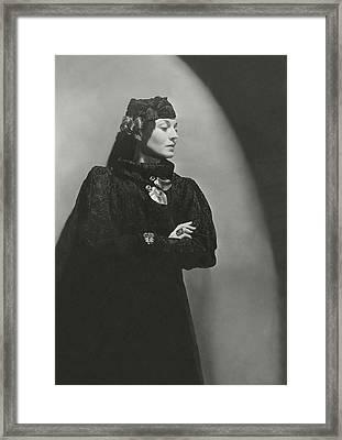 Portrait Of Mona Von Bismarck Framed Print
