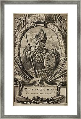 Portrait Of Montezuma II Framed Print