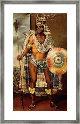 Portrait Of Montezuma II Framed Print by European School