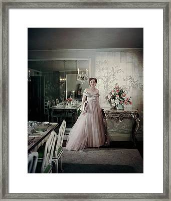 Portrait Of Mrs. Adam Gimbel Framed Print