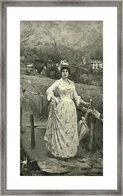 Portrait Of Mrs Carola Reduzzi Framed Print by Giacomo Grosso