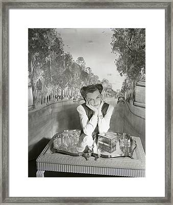 Portrait Of Mrs. Carroll Boissevain Framed Print by Horst P. Horst