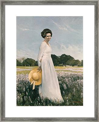 Portrait Of Mrs Lyndon B Johnson Framed Print