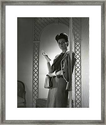Portrait Of Mrs. Michael Arlen Framed Print by Horst P. Horst
