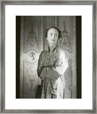 Portrait Of Mrs. Stevens Baird Framed Print