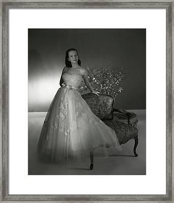 Portrait Of Mrs. William Woodward Jr Framed Print by Horst P. Horst