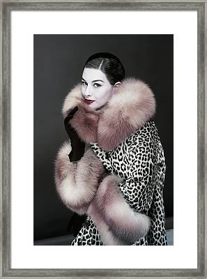 Portrait Of Nancy Berg Framed Print by Erwin Blumenfeld