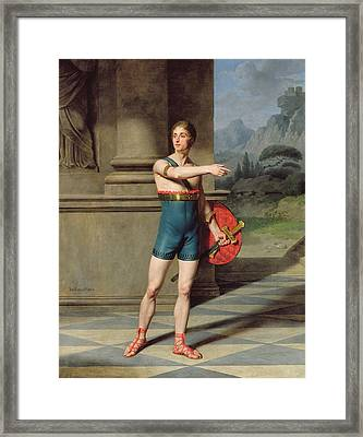 Portrait Of Nicolas Baptiste In The Role Of Horace Oil On Canvas Framed Print