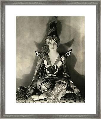 Portrait Of Jeanne Jacqueline Harper Framed Print