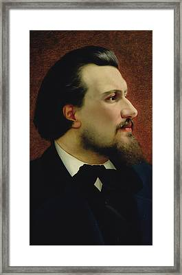 Portrait Of Nikolay Leskov Framed Print