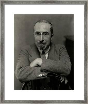 Portrait Of Novelist Frank Swinnerton Framed Print by Nicholas Muray