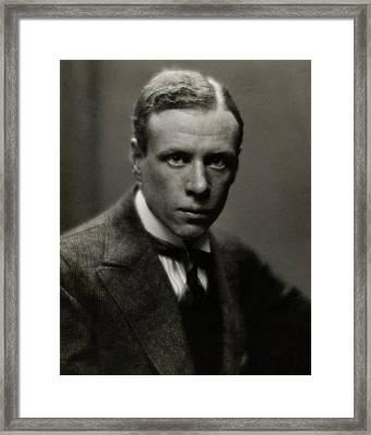 Portrait Of Novelist Sinclair Lewis Framed Print by Arnold Genthe