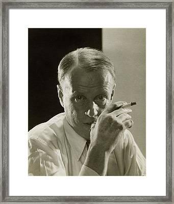 Portrait Of Novelist Sinclair Lewis Framed Print by Edward Steichen
