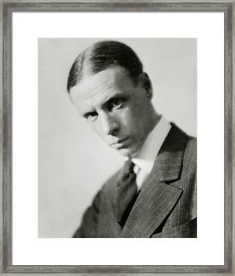 Portrait Of Novelist Sinclair Lewis Framed Print by Nicholas Muray