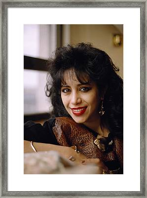 Portrait Of Ofra Haza Framed Print